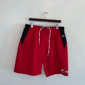 BRAND NEW Nike Guard Red Swim Trunks size XL